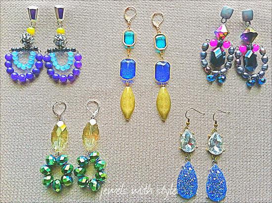 M Renee Design, Statement Jewelry, Statement Earrings, handmade earrings, gemstone earrings, colorful earrings, jewels with style, black fashion blogger