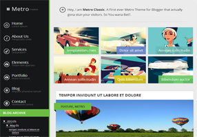Metro Classic Responsive Blogger Template