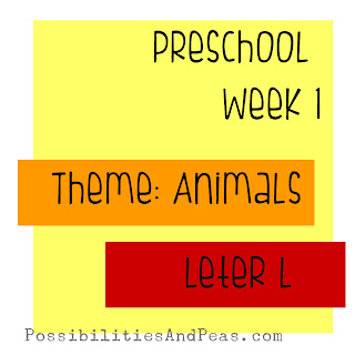 week 1 animals letter L