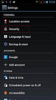 cara mengunci layar di hp android