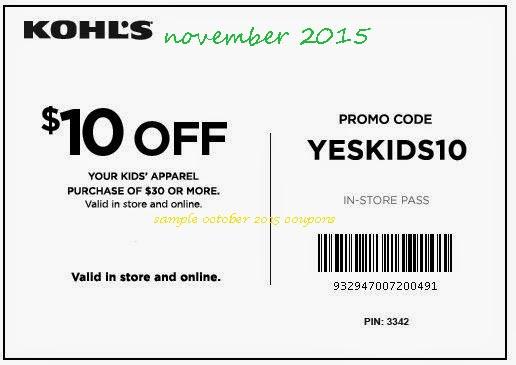 Kohls printable coupons nov 2019