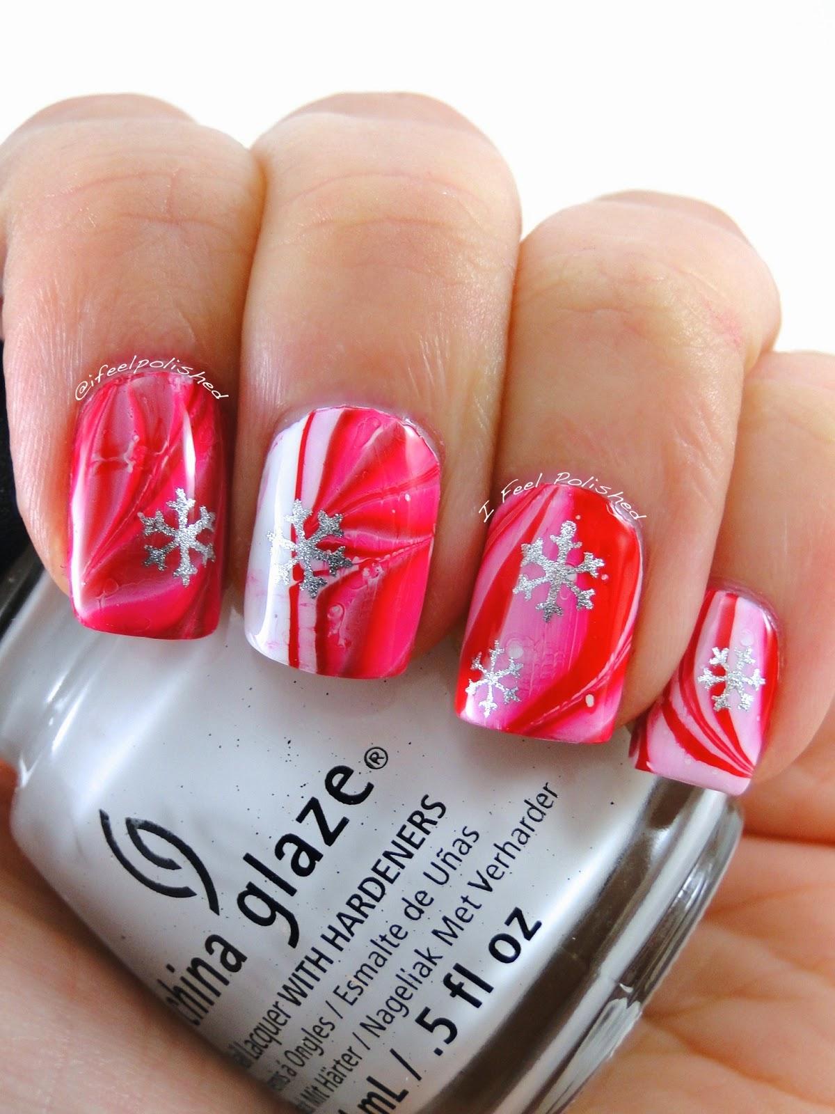 I Feel Polished Peppermint Winter Nails