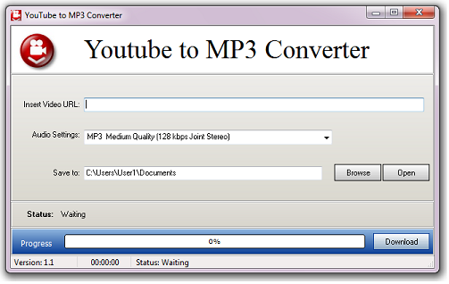 YouTube to MP3 Converter start