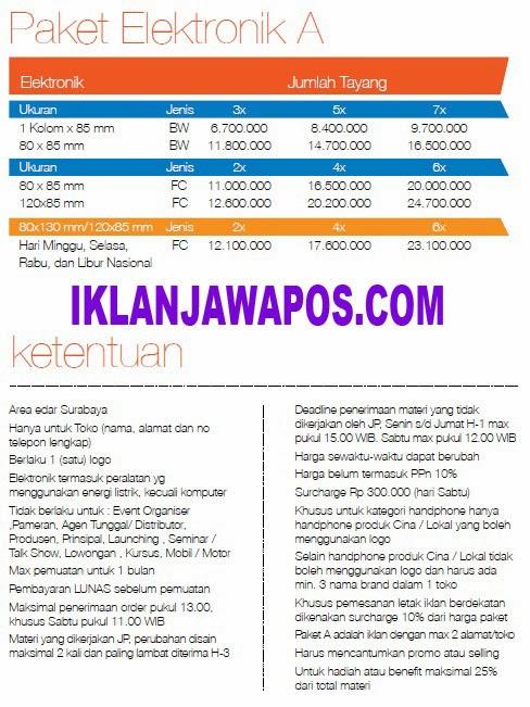 Jawa Pos Iklan Paket Elektronik 2014