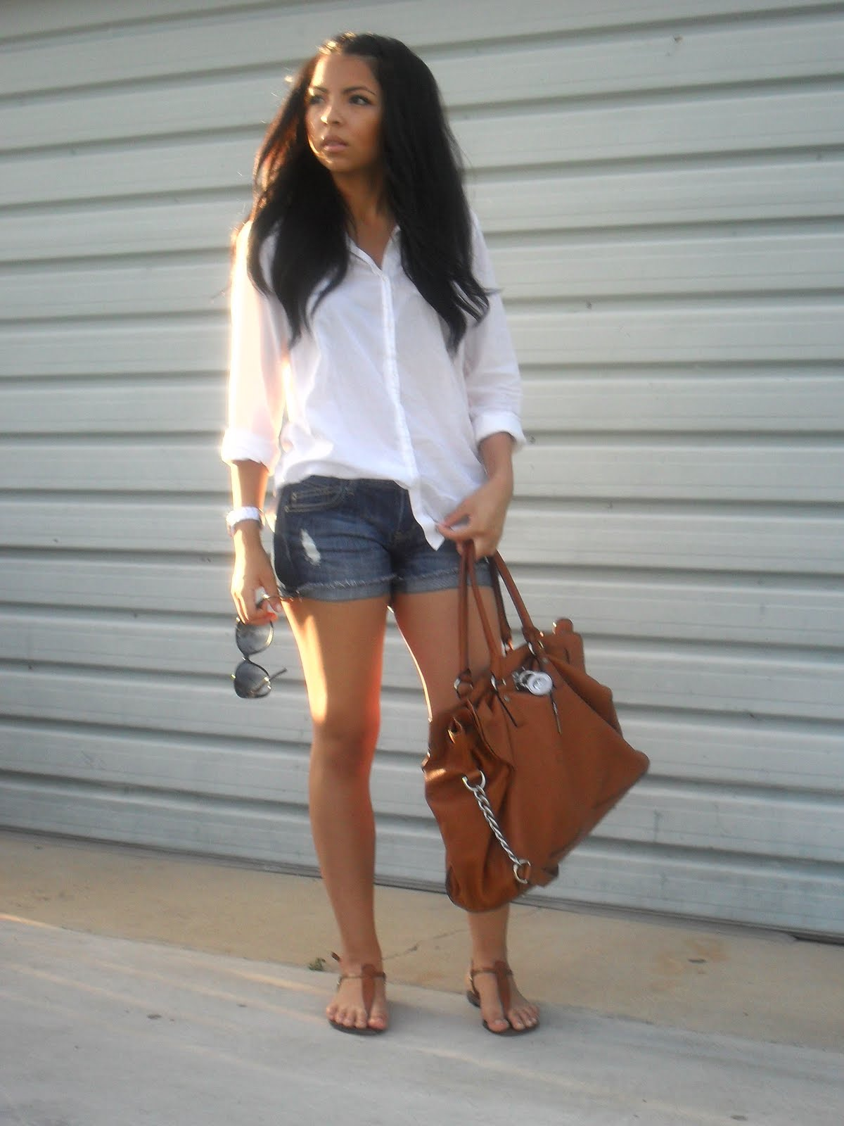 Danira S Fashion World Denim Shorts Amp Sandals 8 13 11
