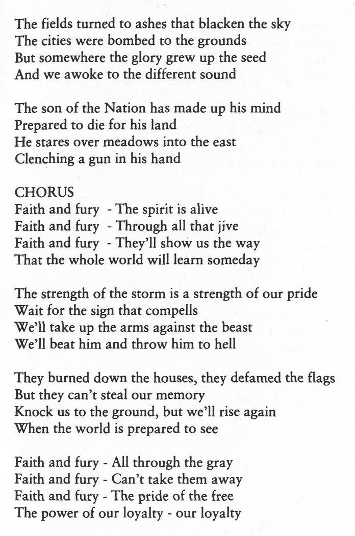 Lyrics of RAC bands: Mistreat - Faith and Fury