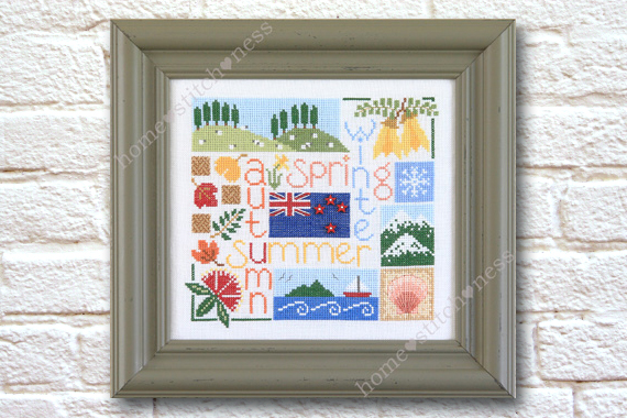 Four Seasons in New Zealand by homestitchness cross stitch design by homestitchness