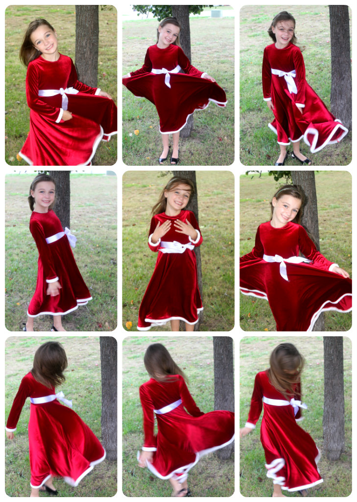 Creations ella s christmas winter twirl dress and another winter coat
