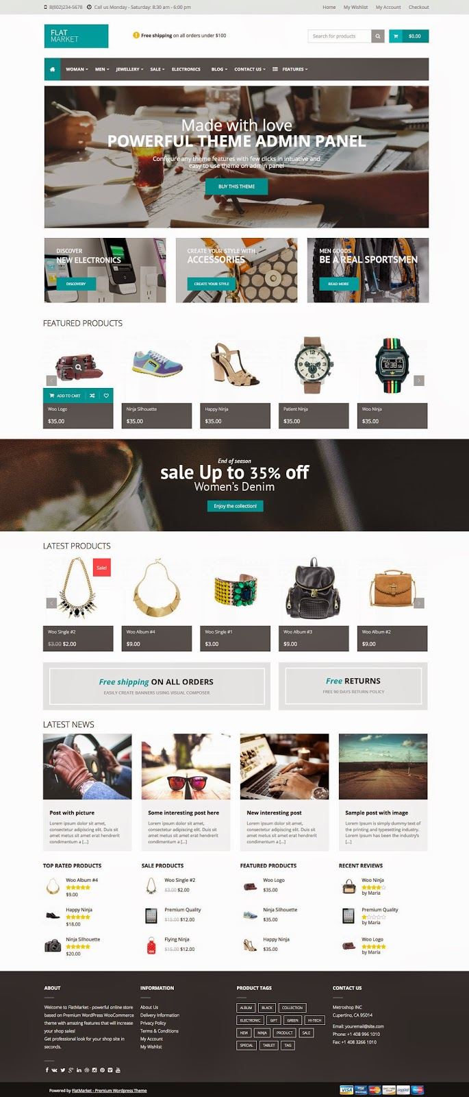 Download Premium WordPress WooCommerce Theme