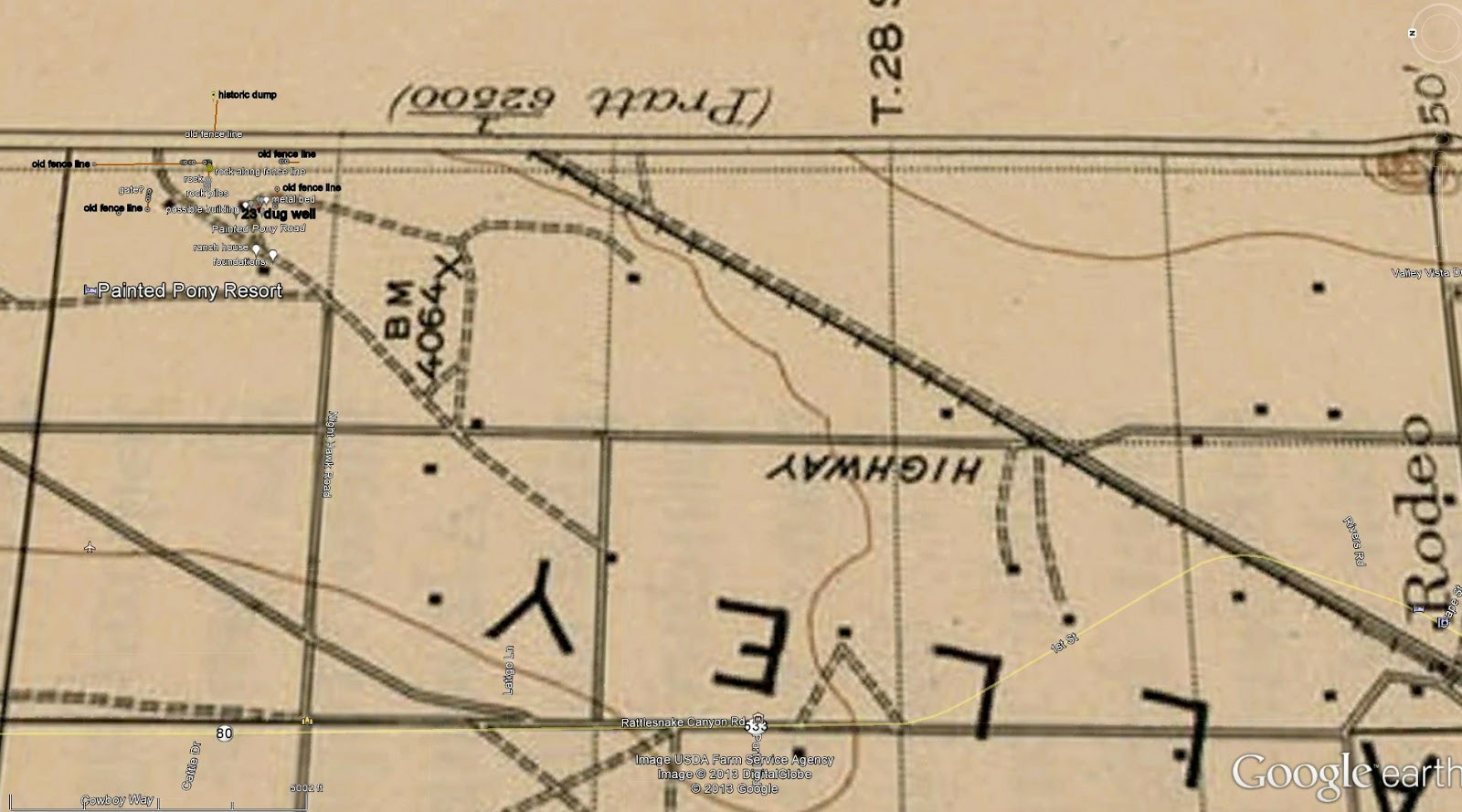 old topographic map of PPR