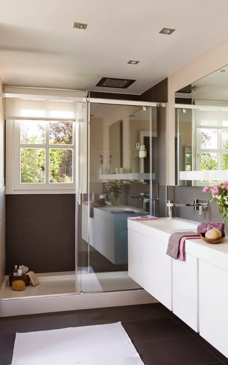 15 great ideas for modern bathroom designs with glass shower for Modern shower design