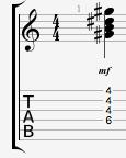 G# min guitar chord