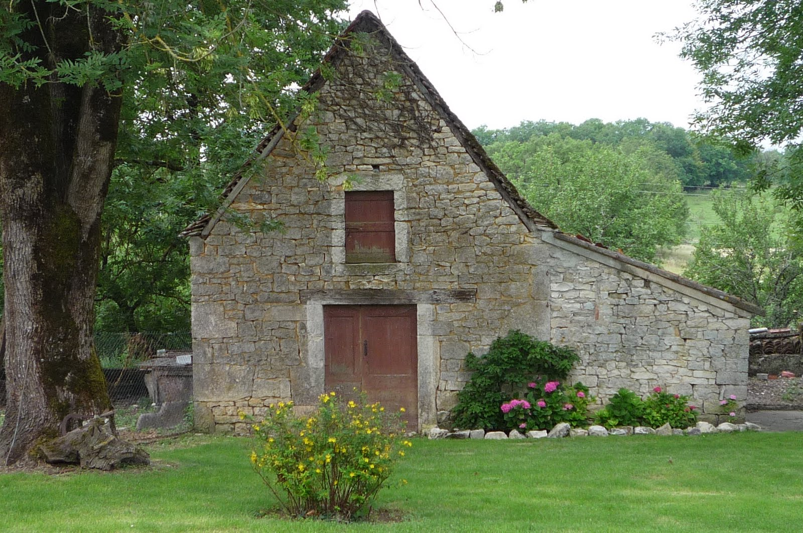 A Real Original Old French Farmhouse And Barn