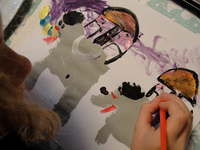 Indian elephant paintings by child
