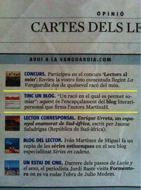 Tinc un bloc - La Vanguardia