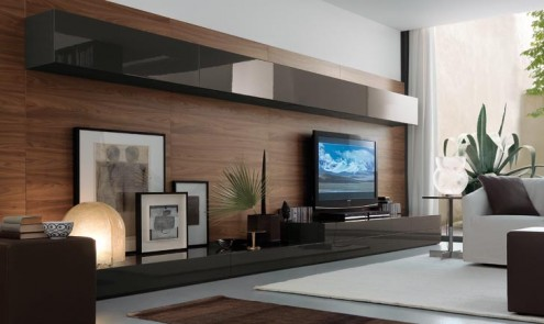 Ideas de decoración para esconder la televisión del salón - muebles para tv modernos fotos