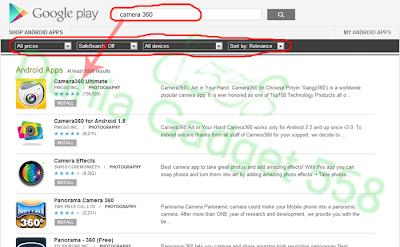Mendownload aplikasi Android lewat Google Play