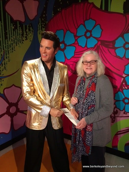 Carole Terwilliger Meyers with Elvis at Madame Tussauds San Francisco