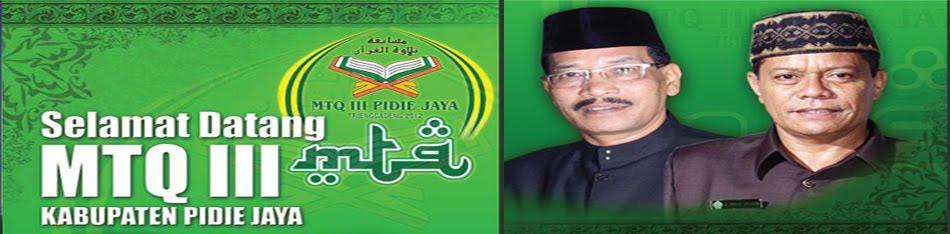 MTQ III Kabupaten Pidie Jaya