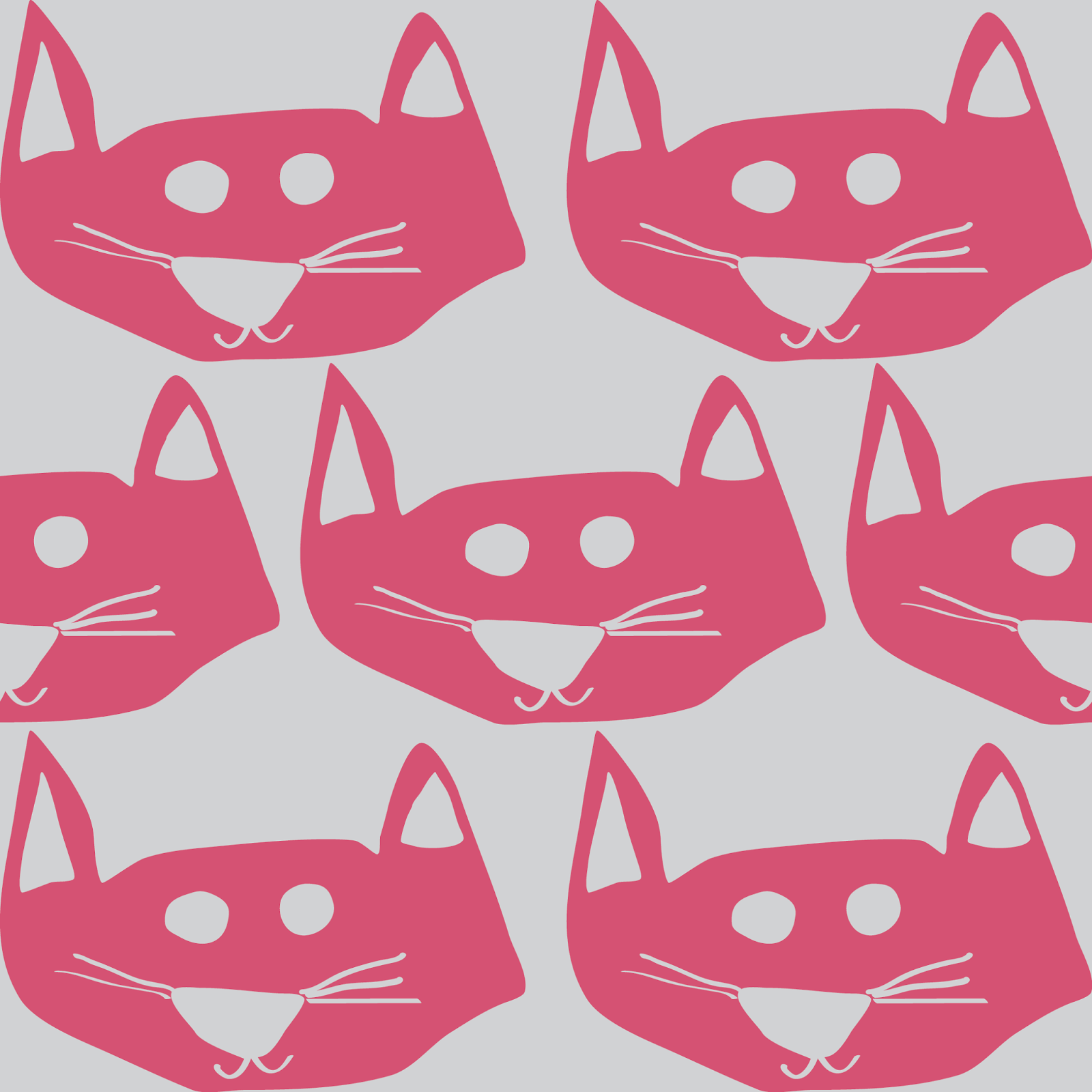 cat fabric pattern