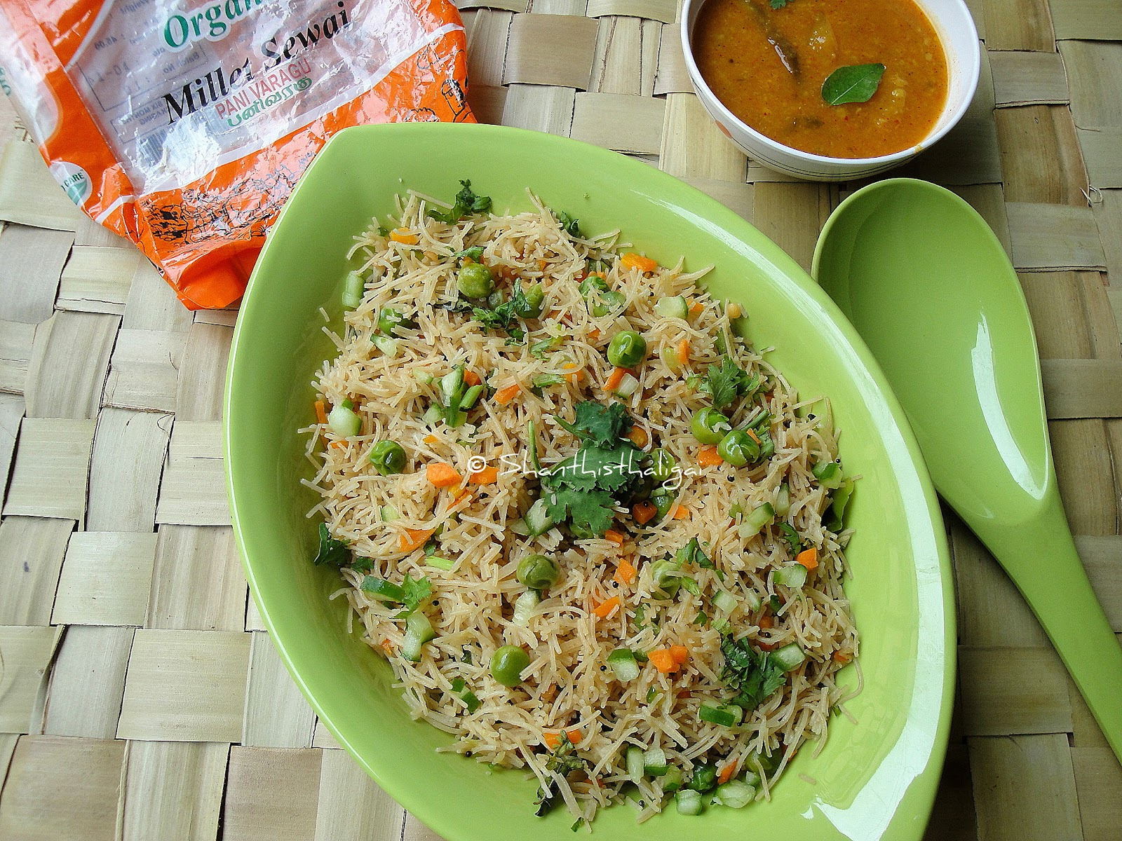 HOW TO MAKE PROSO MILLET VEGETABLE SEVAI , HOW TO MAKE PANIVARAGU VEGETABLE SEVAI