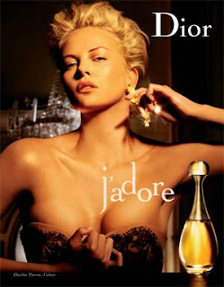 Charlize Theron show her breast at J'adore Dior Perfume