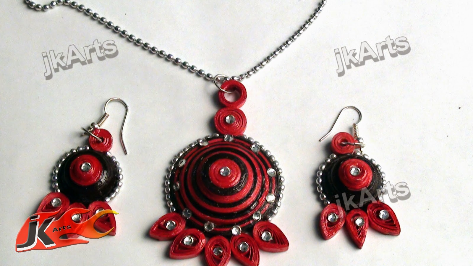 how to make jhumka using paper