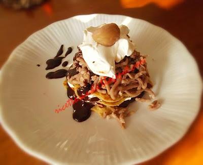 Montebianco o Mont Blanc ricetta dolce