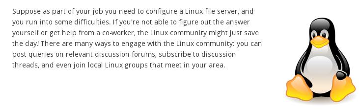 A comunidade Linux está sempre disposta a ajudar.