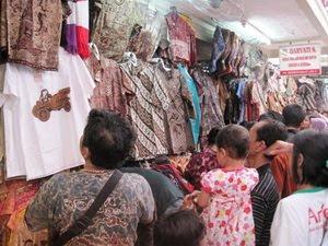 Beringharjo market at Yogyakarta