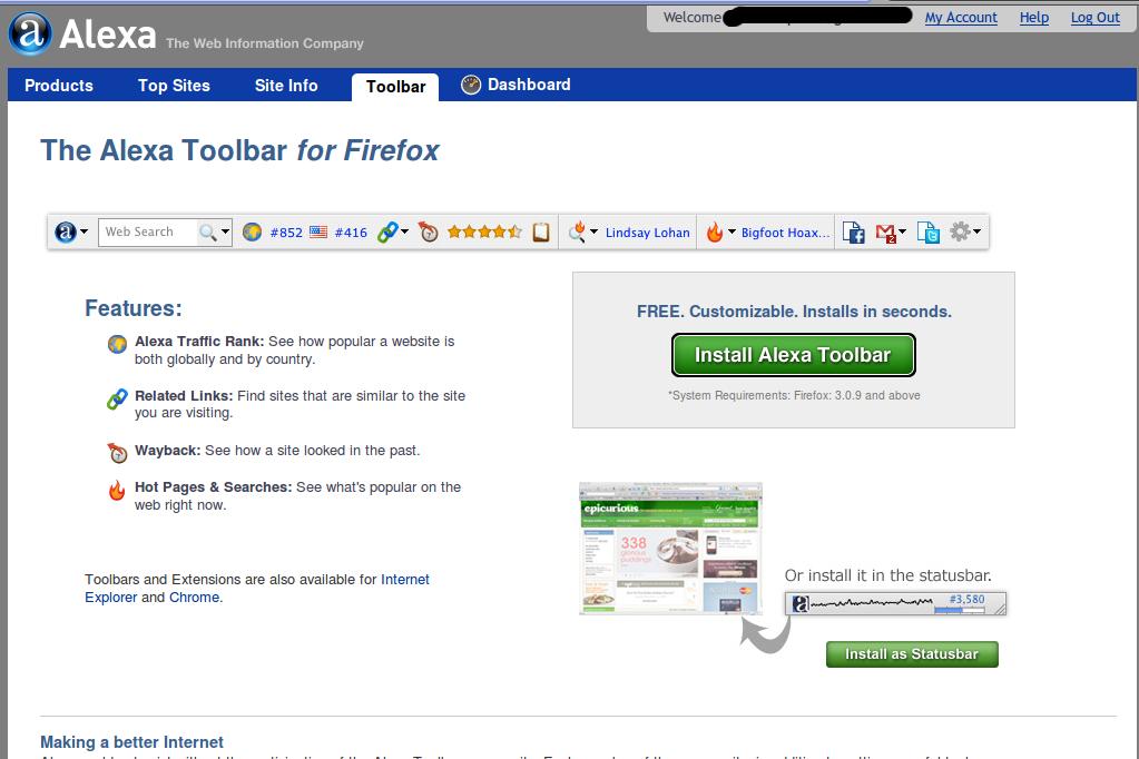 Install Alexa Rank di Browser Mozilla Firefox
