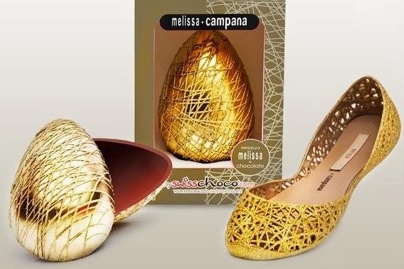 Ovo de Páscoa Melissa + My Swiss Choco com miniatura de sapatilha Melissa