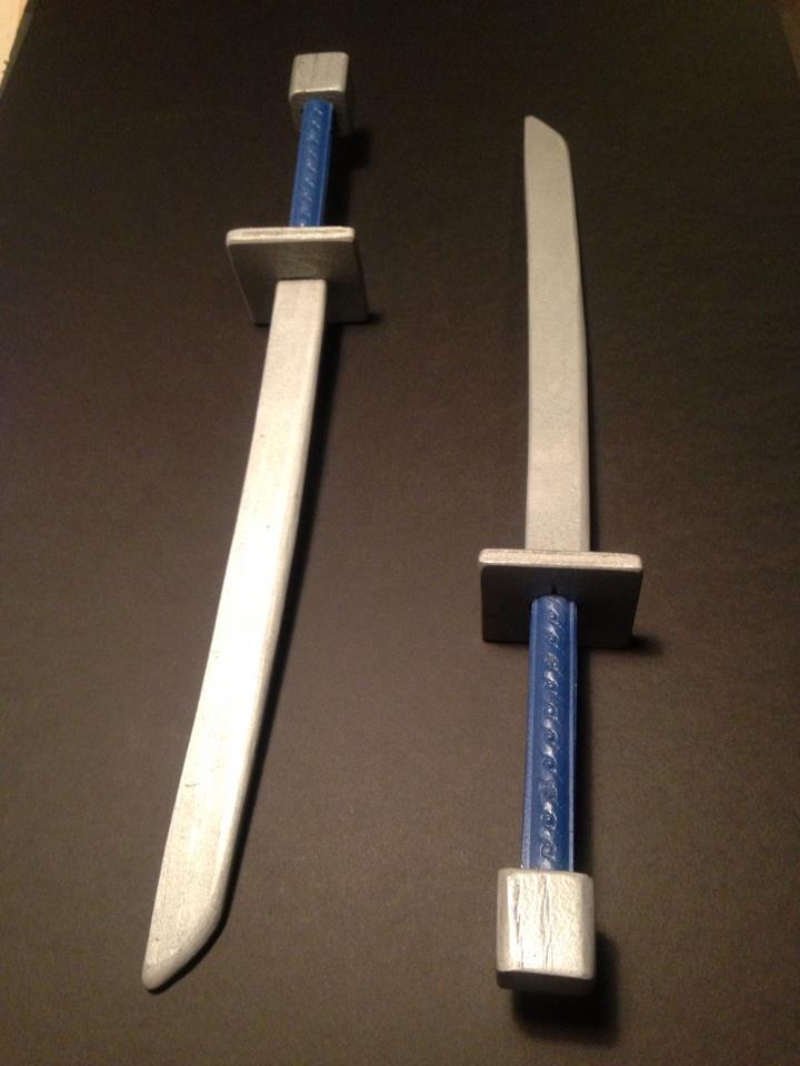 secret asian man wooden swords