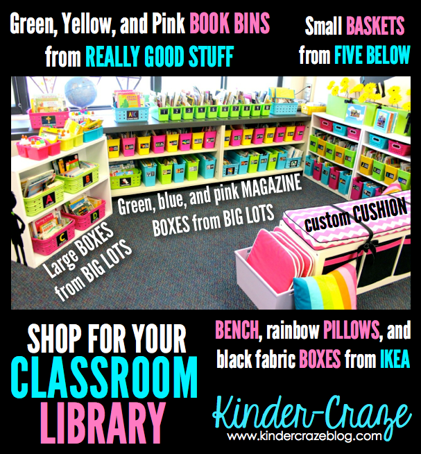 Where to shop to create a classroom library like this one!