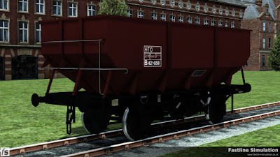 Fastline Simulation: This rebodied dia 1/146 21T hopper is in ex-work freight brown livery (although it's unfitted) complete will fully boxed data panel with HTO TOPS code.