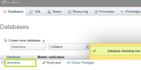 database  create structure image