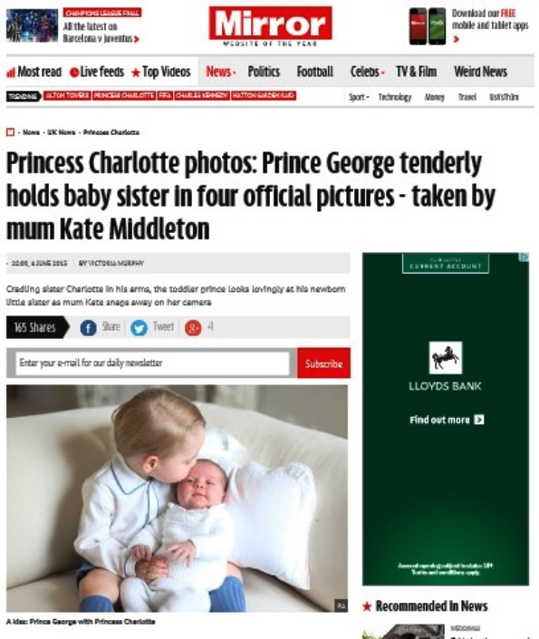 What The Papers Are Saying About The New Photos Of Baby Princess Charlotte And Her Toddler Brother Prince George