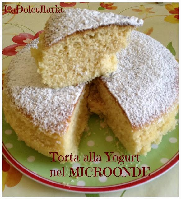 torta allo yogurt nel  microonde