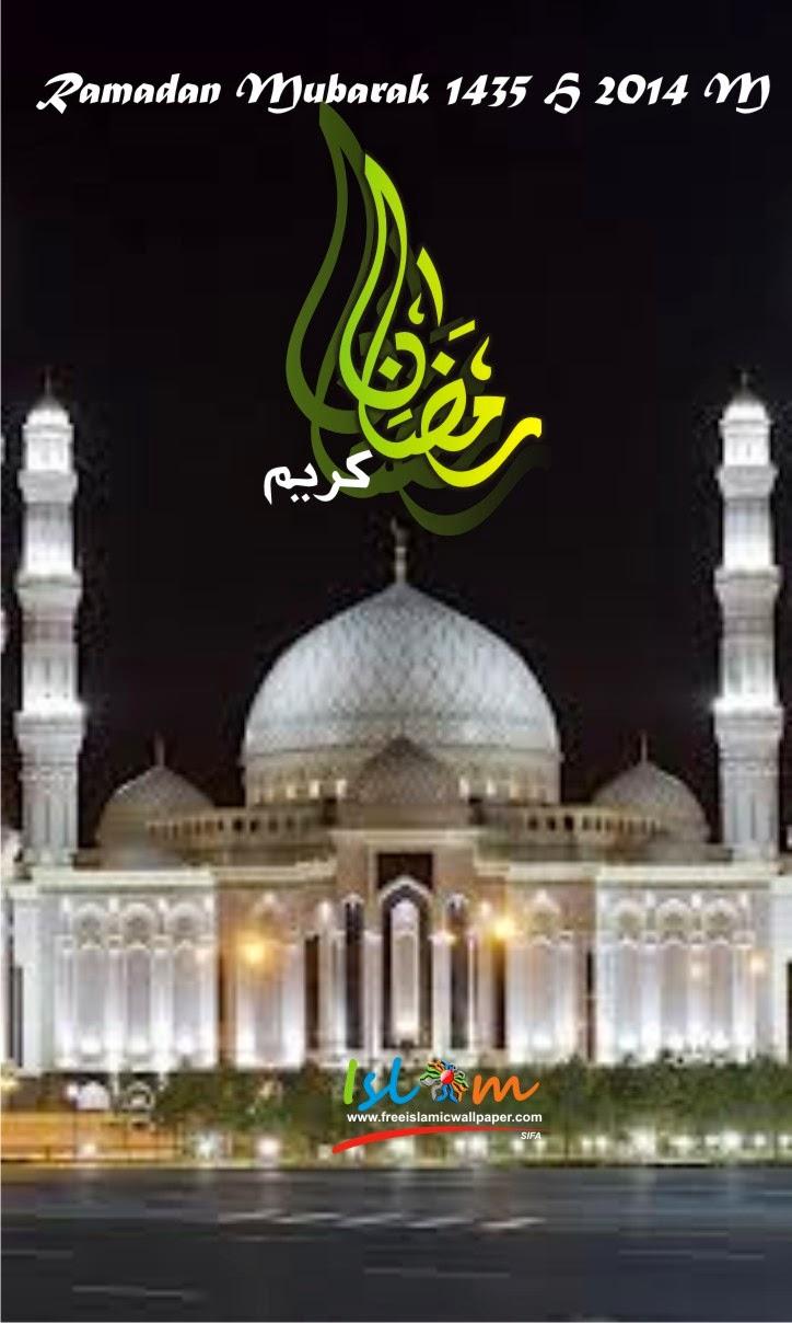 Gambar Ucapan Ramadan 2014 1435h smartphone