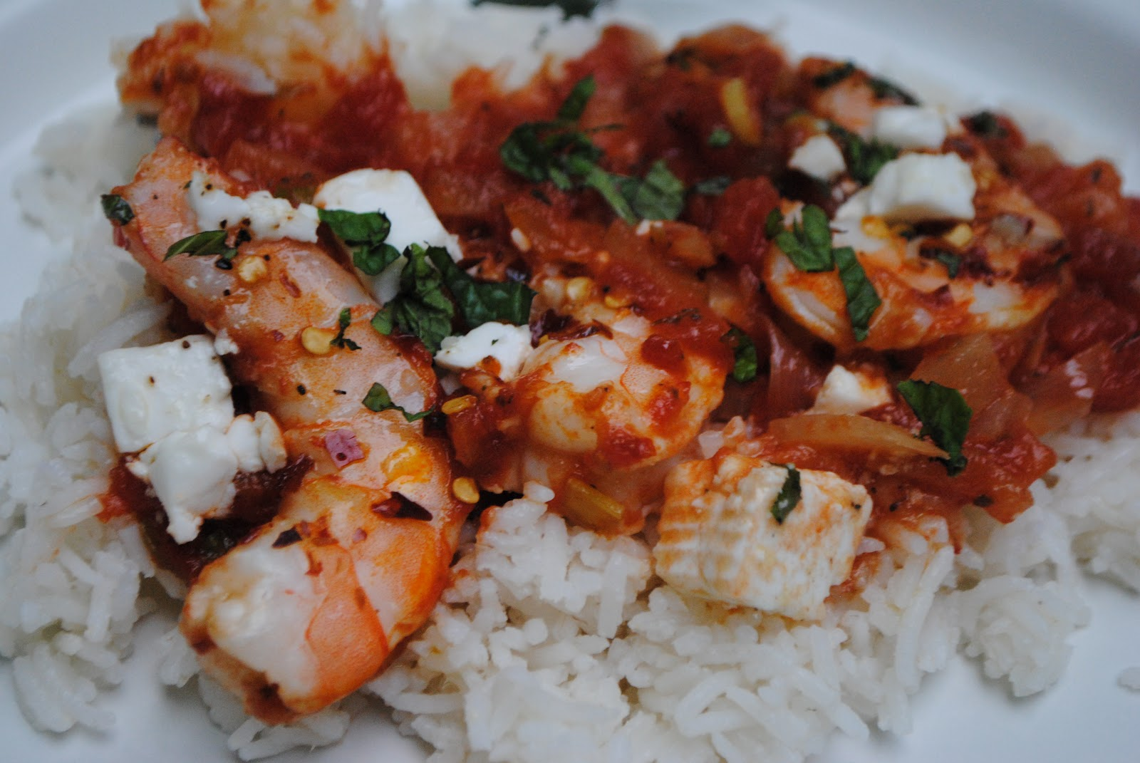 Easy Saganaki: Shrimp Saganaki with Feta Cheese | The Enchanted Spoon