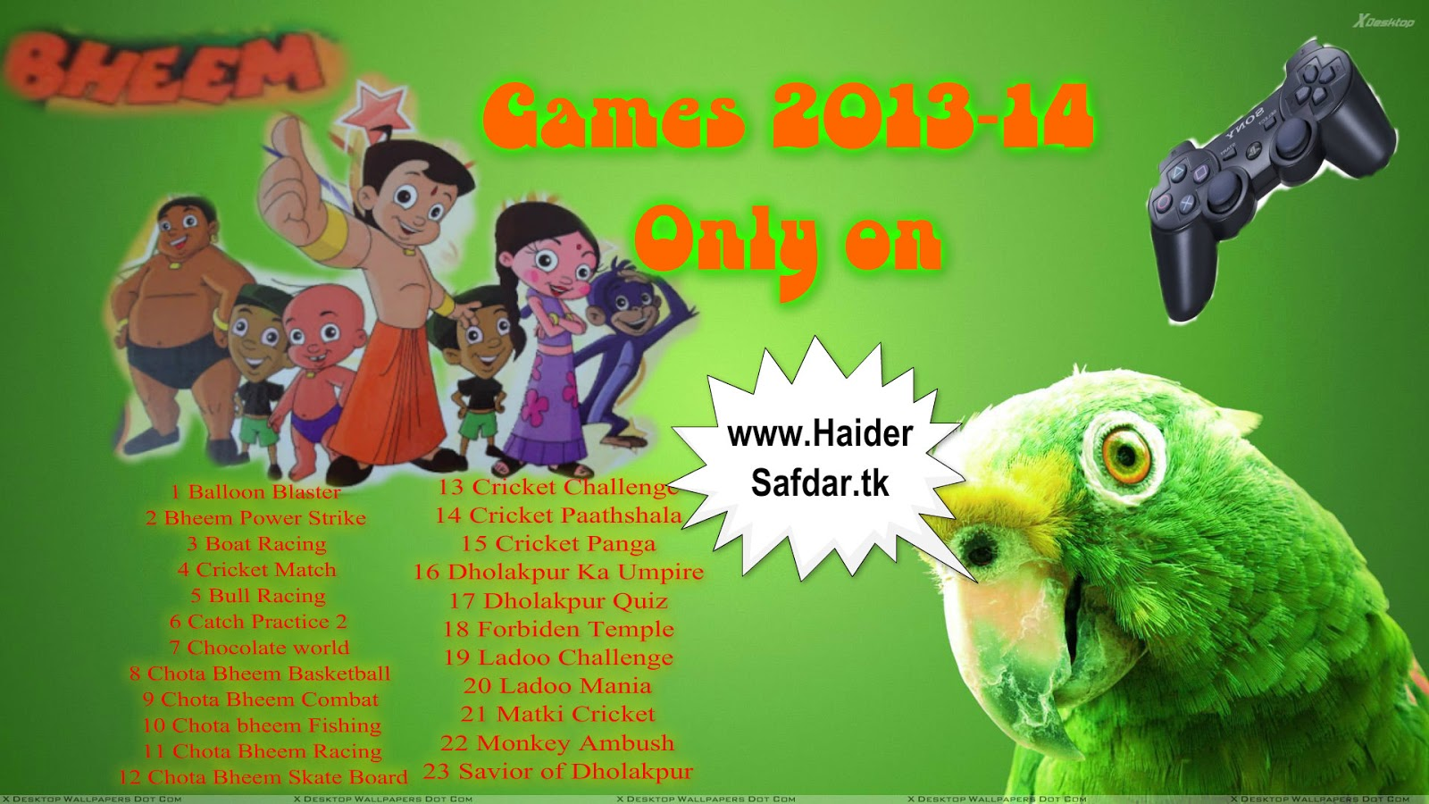 Chota bheem games online play 2012