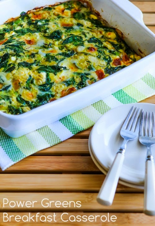 Basic Instructions and Recipes for Low-Carb Breakfast Casseroles (South Beach Phase One, Gluten-Free) found on KalynsKitchen.com
