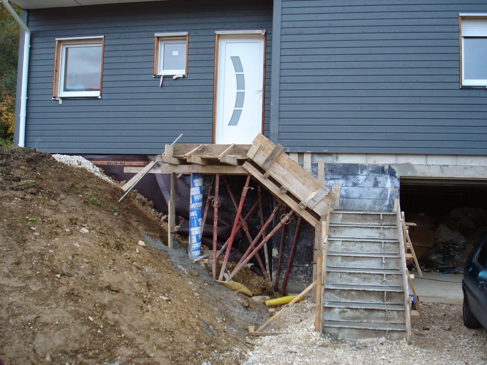 Notre aventure dans la construction escalier ext rieur for Construction escalier exterieur