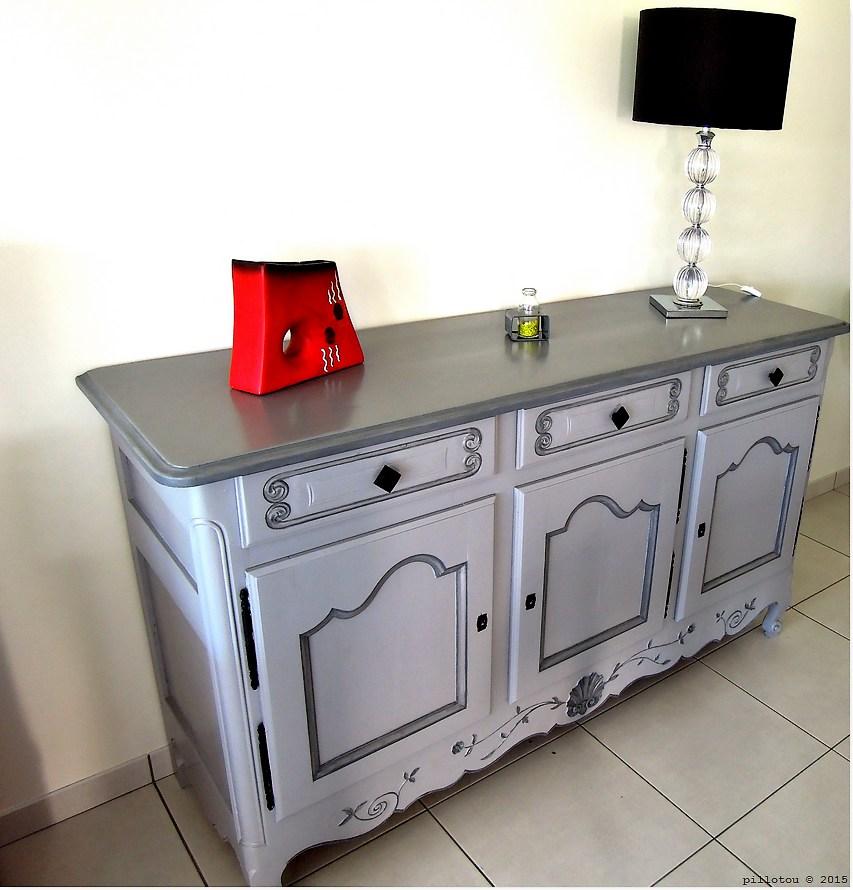 ambiances bois patines buffet gris fonc et gris moyen. Black Bedroom Furniture Sets. Home Design Ideas