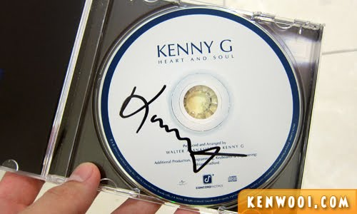 kenny g autograph