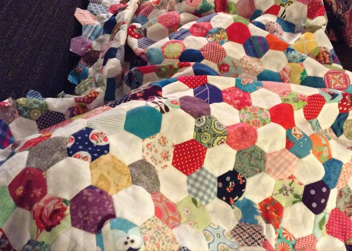 Hexagondecke, Hexagone, Hexagonquilt,