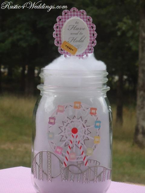 Rustic weddings carnival wedding cotton candy