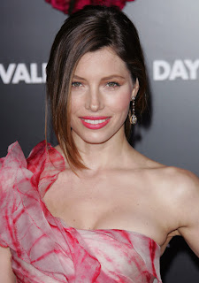 Jessica Biel Loose Bun Hairstyle for Women