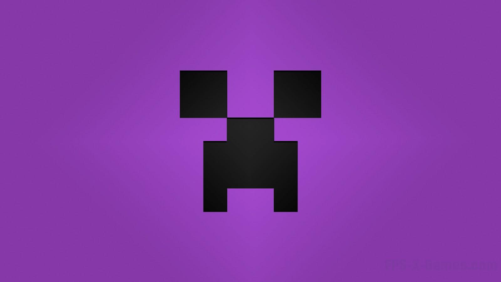 Minecraft Creeper Desktop Wallpapers Purple