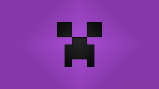 Minecraft Creeper desktop wallpapers purple
